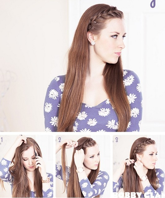 Phenomenal 15 Braided Bangs Tutorials Cute Easy Hairstyles Pretty Designs Hairstyles For Men Maxibearus