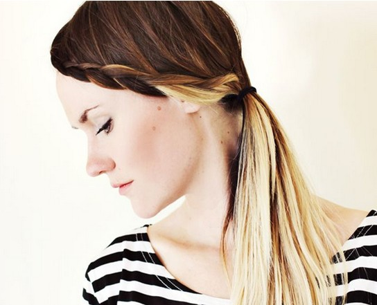 15 Braided Bangs Tutorial: Ombre Hairstyles for Long Hair