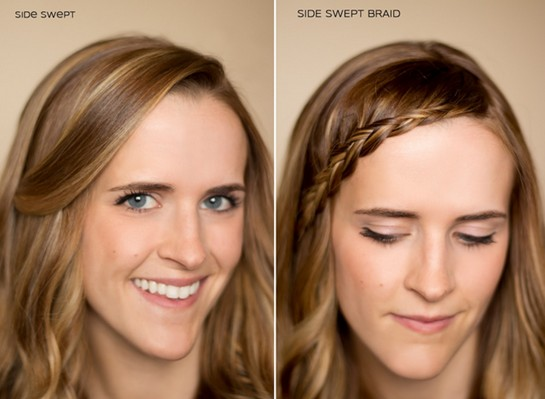15 Braided Bangs Tutorial: Side Swept Braid
