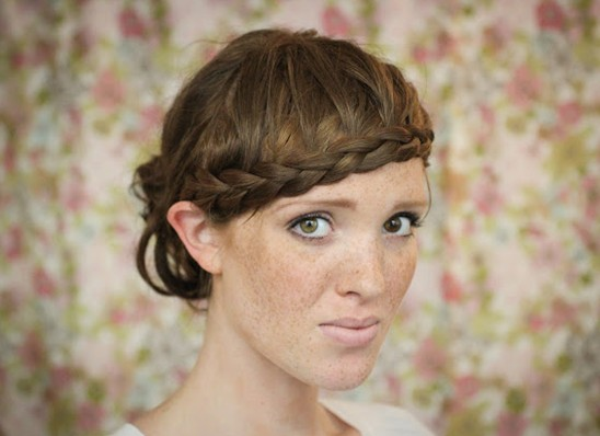 15 Braided Bangs Tutorial: Updo Hairstyles with Braided Bangs