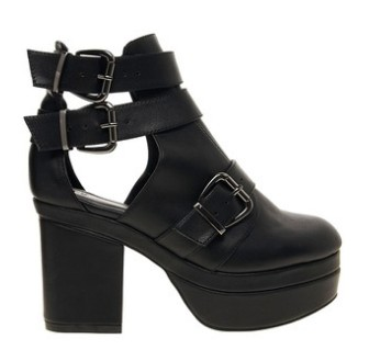 ASOS AGAINST THE CLOCK Cutout Boots,black