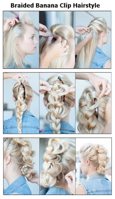 Adorable Hairstyle Tutorials: Braided Banana Clip