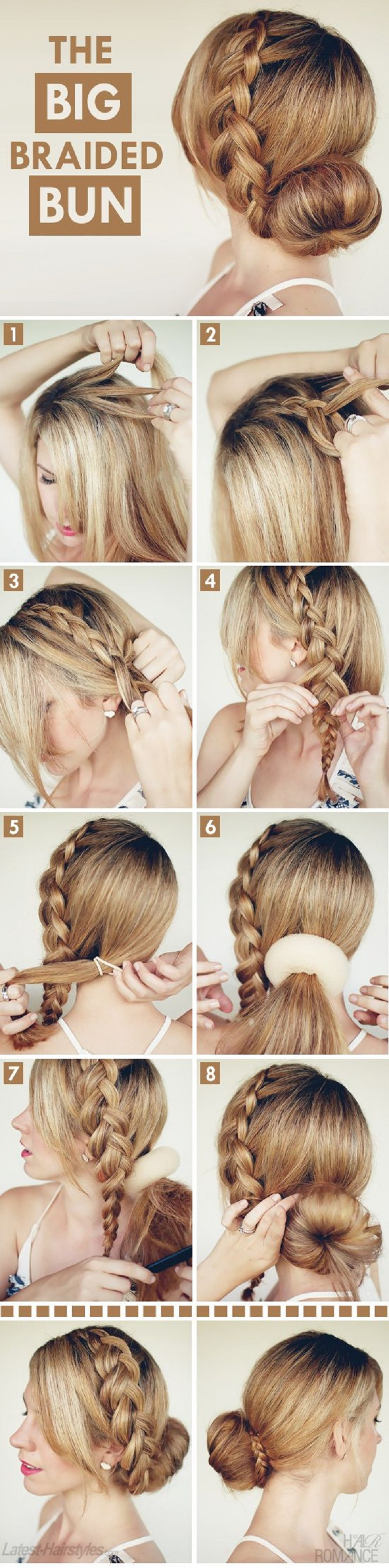 Adorable Hairstyle Tutorials: The Big Braided Bun
