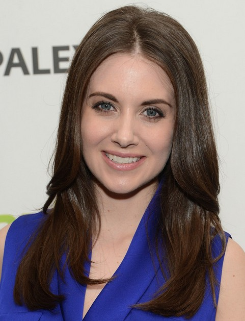 Alison Brie Long Hair style: 2014 Layered Hair 'do