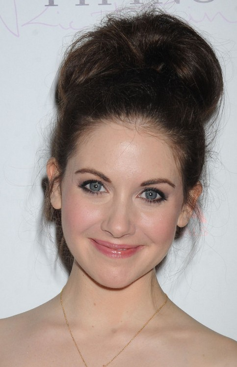 Alison Brie Long Hairstyle: Beehive