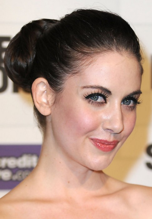 Alison Brie Long Hairstyle: Classic Bun