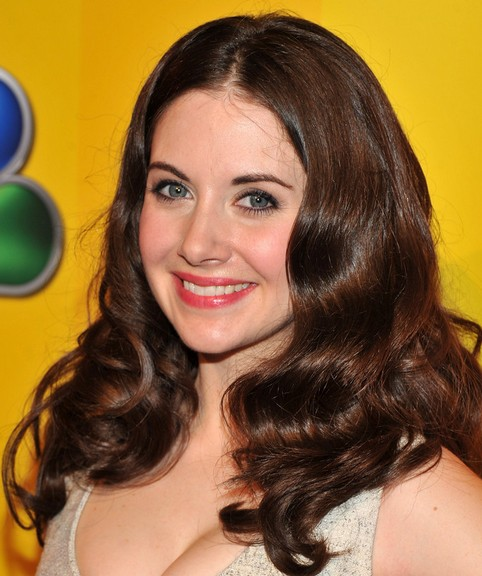 Alison Brie Long Hairstyle: Romantic Curls