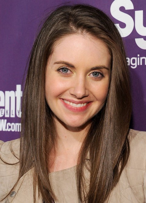 Alison Brie Long Hairstyle: Straight Hair