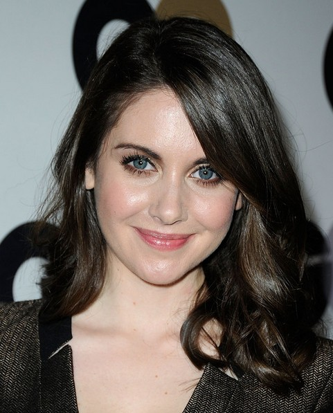 Alison Brie Medium Length Hairstyle: Curls for Raven Hair