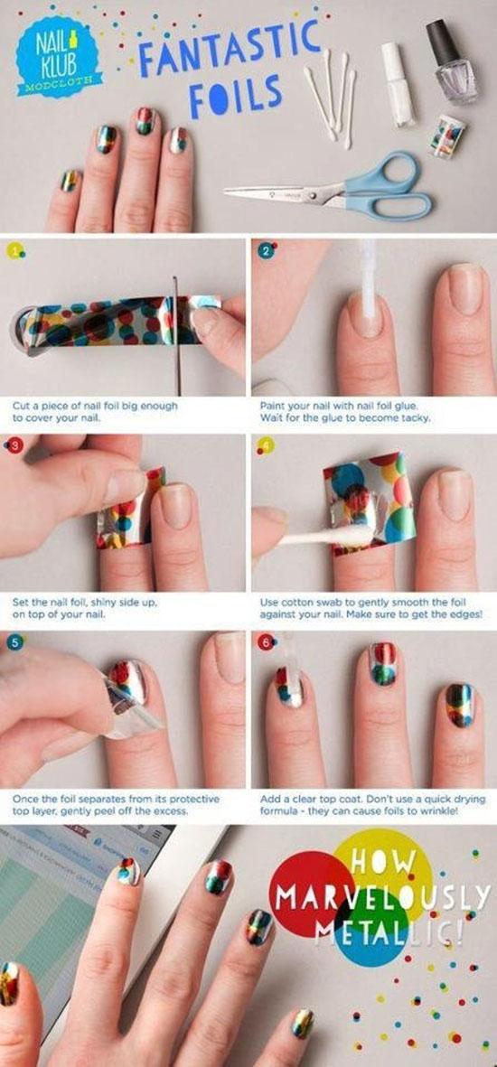 Amazing Foil Nail Art