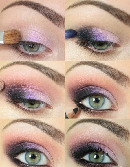 Smoky Eyes Makeup Tutorials: Pink and Purple