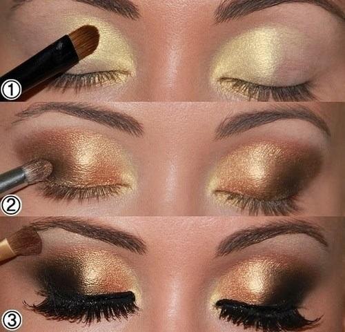 Smoky Eyes Makeup Tutorials: Golden Eyes