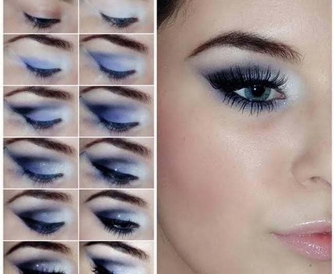 Smoky Eyes Makeup Tutorials: Gray and Blue