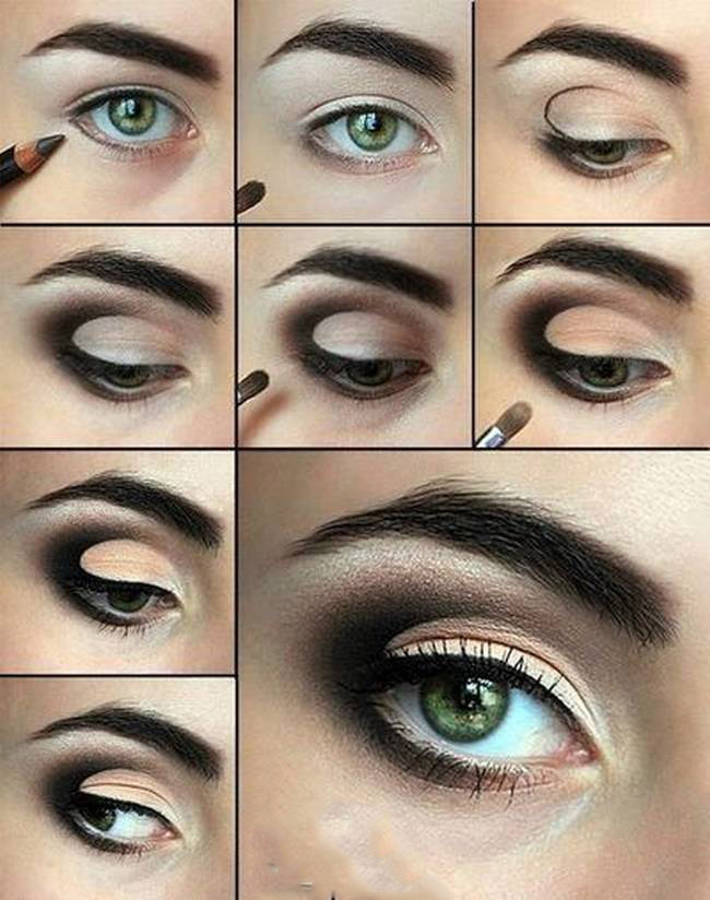 Smoky Eyes Makeup Tutorials: Ombre Coffee