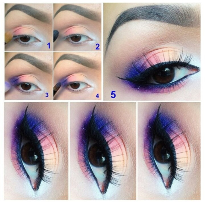 Smoky Eyes Makeup Tutorials: Rainbow Look