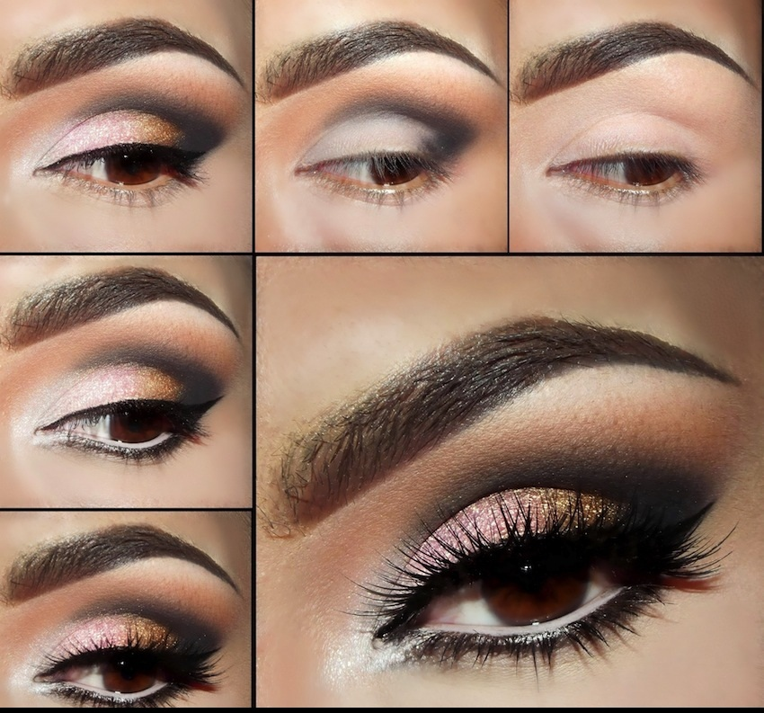 Smoky Eyes Makeup Tutorials: Coffee and Silver
