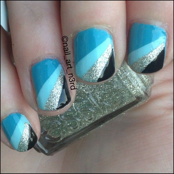 17 gorgeous blue nails art pretty designs blue nail art prinsesfo Gallery