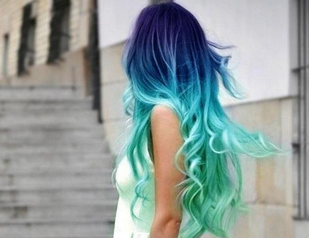 Blue Ombre Hair Tumblr