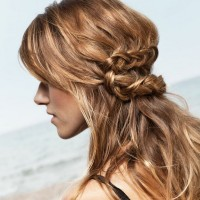 Loose Braided Hairstyles: Untidy Knot