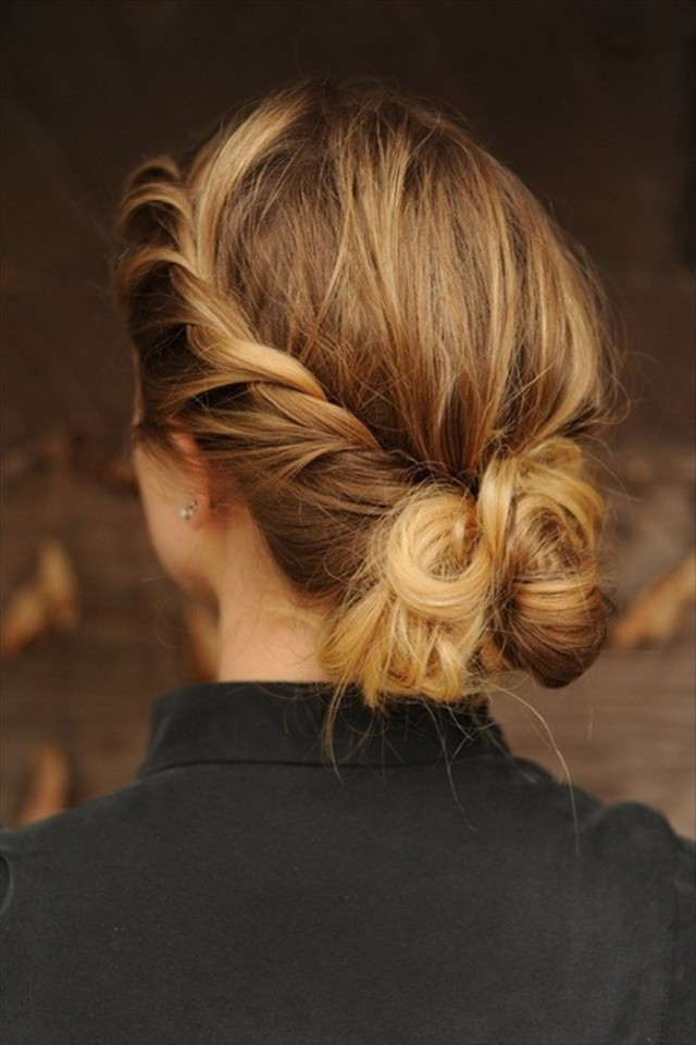Loose Braided Hairstyles: Casually Tied-up Look