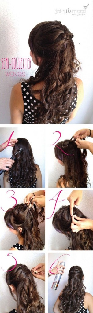 15 Stylish Half Up Half Down Tutorials Pretty Designs