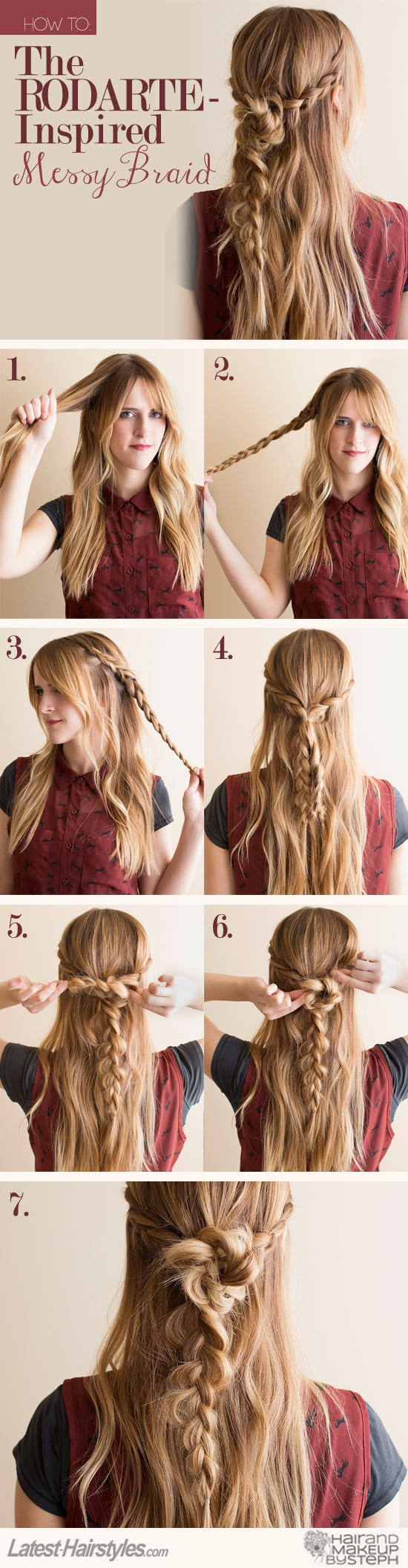 Braided Style for Straight Hair