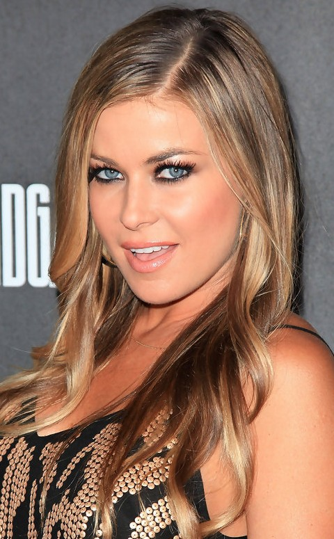 Carmen electra hairstyles side parted curls pretty designs