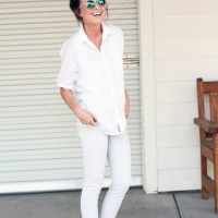 Great sunglasses for an all white outfit - Casual White Outfit for 2014