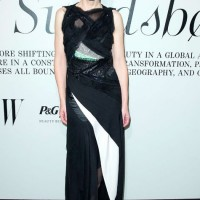 Cate Blanchett's Glamorous Style - Black and white textured edgy dress by Juan Carlos Obando