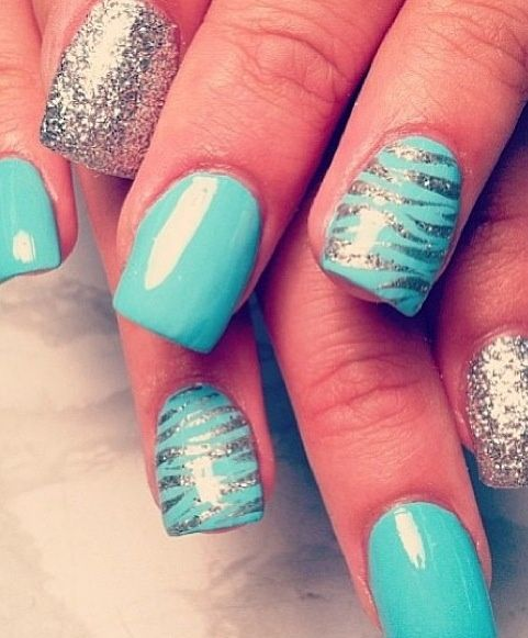 Cool Nail Art: 17 Gorgeous Blue Nails Art
