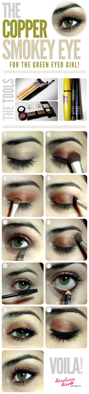 Creative Makeup Tutorials: Copper Smokey Eyes
