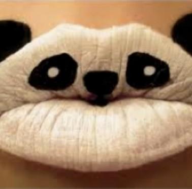 Creative Lips Makeup: Lovely Panda Lips