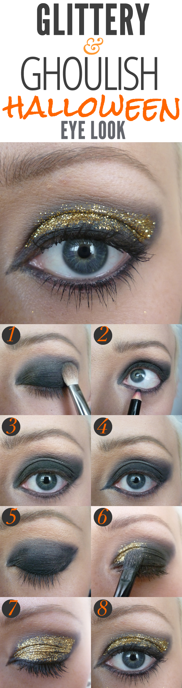Creative Makeup Tutorials: Glitter Eyes