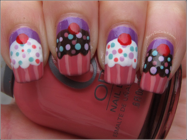 Cupcake Nails for Birthday