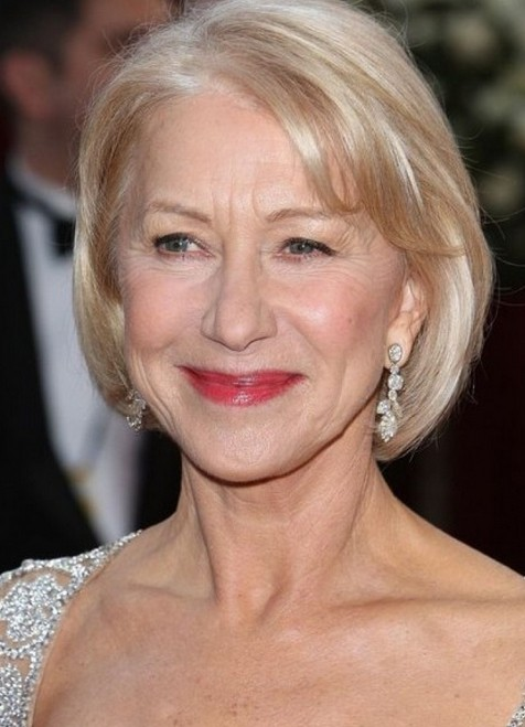 Dame Helen Mirren Hairstyle for Women Over 60