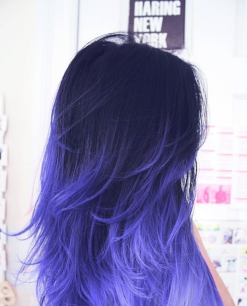 Dark to Purple Ombre Hair