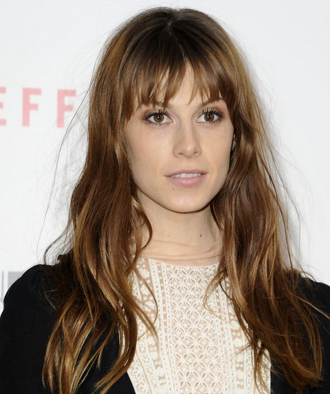 Elettra Wiedemann Long Hairstyle: Waves with Bangs