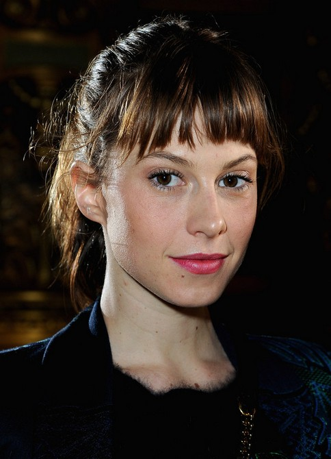 Elettra Wiedemann Long Hairstyles: 2014 Ponytail with Cut-out Bangs