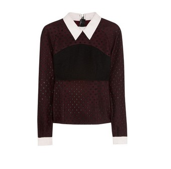 Erdem Ebony polka-dot tulle and crepe blouse, black