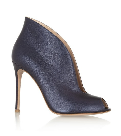 Gianvito Rossi Cutout metallic leather ankle boots