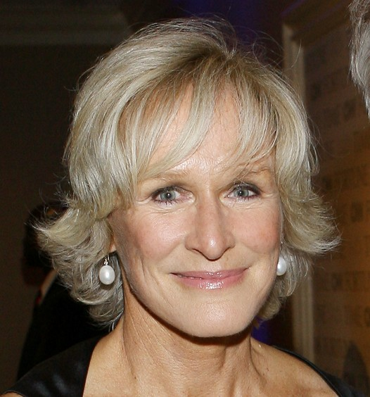 Glenn Close Short Bob Haircut for Women Over 50