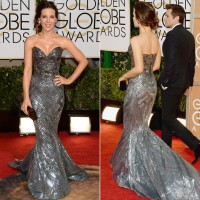 Golden Globe Style – Kate Beckinsale Sleekly Sculptural Zuhair Murad Couture Gown