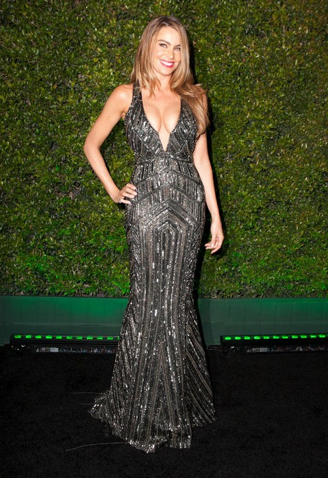 Golden Globes After-Party Dress - Sofia Vergara sleek (and expected) mermaid gown by Zuhair Murad
