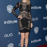 Golden Globes After-Party Dress - Taylor Swift sexy Julien Macdonald spring 2014 black knit dress
