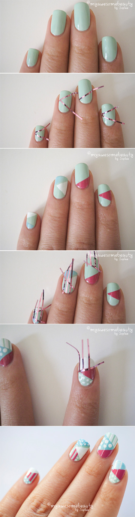 15 easy and creative nail ideas pretty designs graphic nail art prinsesfo Choice Image