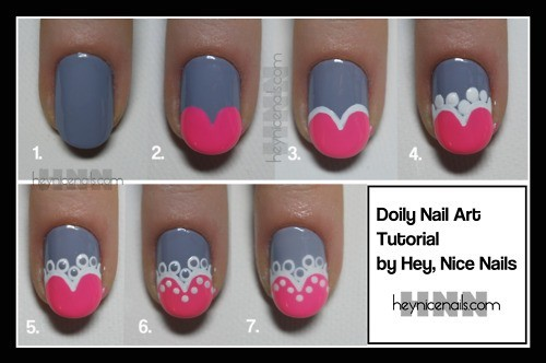Heart Shape Nail Art