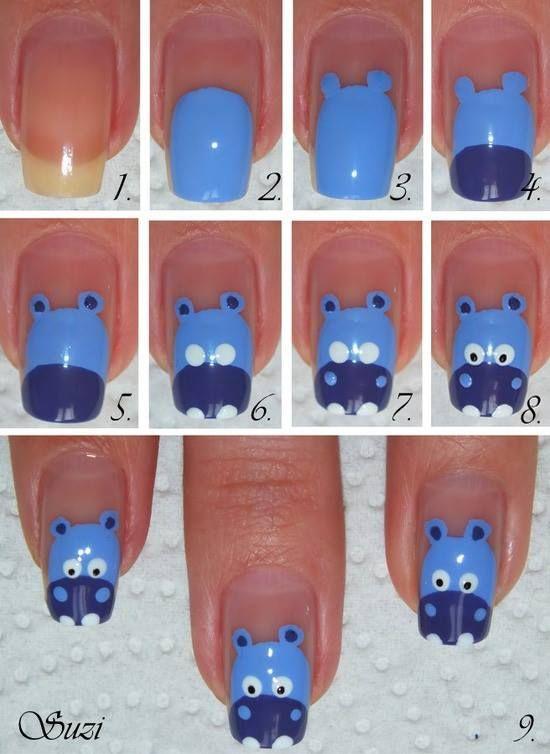 Hippo Nail Art