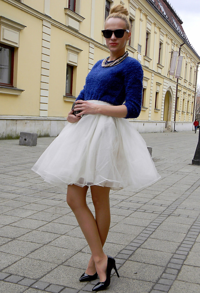 How to Wear the Tulle Skirts Chic and Fresh Look
