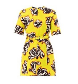 JONATHAN SAUNDERS Emilie tulip-print dress, yellow