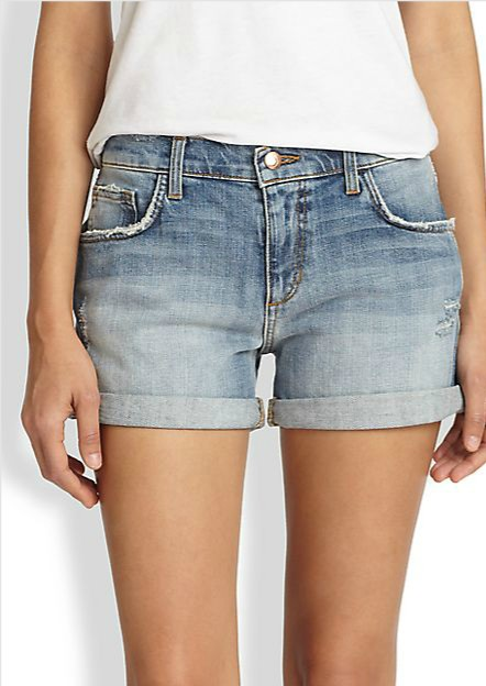 Joe's Slouchy Denim Shorts,rolled cuffs
